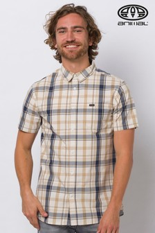 Animal Antique Cream Switches Short Sleeve Shirt