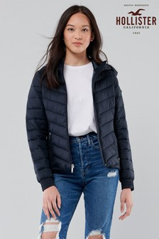 Hollister Navy Lightweight Padded Jacket