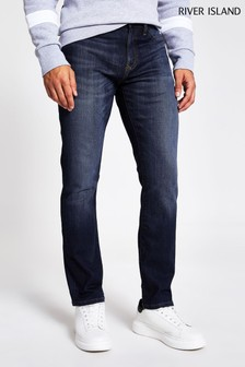 River Island Blue Dark Slim Memphis Jeans