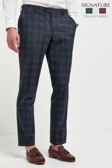 Slim Fit Signature Check Suit