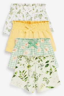 4 Pack Organic Cotton Shorts (3 meses-7 años)
