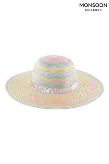 Monsoon大地色彩虹夢幻亮片裝飾軟帽