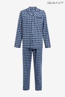 Caja de regalo con pijama de franela en azul de GANT