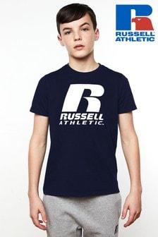 חולצת טי עם לוגו שלRussell Athletics