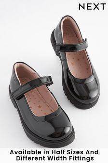 Kožené topánky s hrubou podrážkou a oblou špičkou (Staršie)