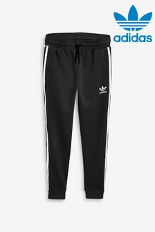 adidas Originals Black 3 Stripe Trefoil Joggers