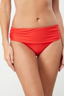 Bikinibroekje met omgeslagen bovenrand