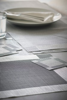 Set of 4 Plastic Placemats And Coasters