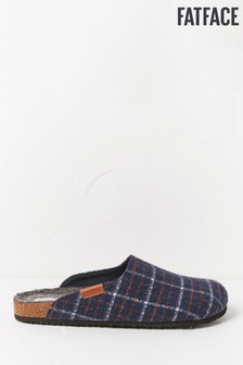 FatFace Blue Hemsley Felt House Shoes