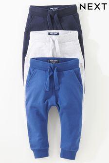 3 супероблегающих спортивных штанов (3 мес.-7 лет)
