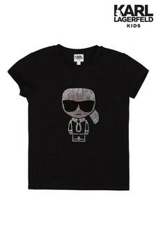 Karl Lagerfeld Black Logo Karl T-Shirt