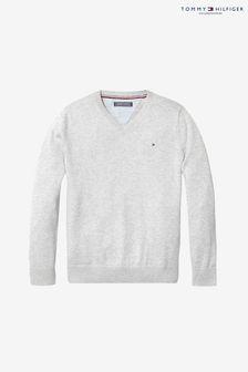 Sweter z dekoltem w szpic Tommy Hilfiger, dlachłopców