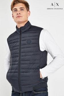 Tmavomodrá prešívaná vesta Armani Exchange