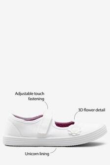 Парусиновые туфли с цветком (Подростки)