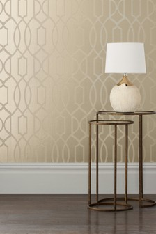 Paste The Wall Lattice Surface Print Wallpaper