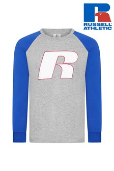 Russell Athletics Graphic Raglan Long Sleeve T-Shirt