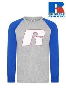 Camiseta de manga larga raglán con gráfico de Russell Athletic