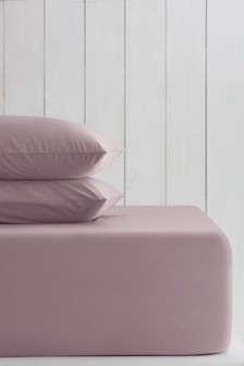 Mauve Purple Cotton Rich Extra Deep Fitted Sheet
