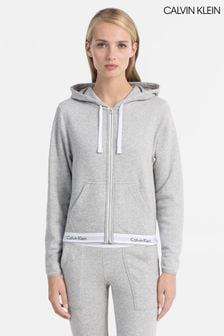 Calvin Klein Grey Top Full Zip Hoodie