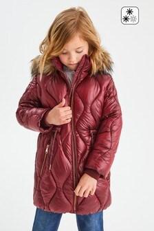 Непромокаемая блестящая дутая куртка (3-16 лет)
