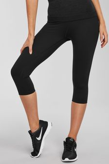 High Waisted Cropped Control Sports Leggings