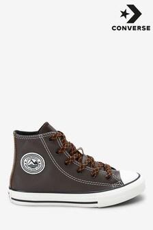 Zapatillas de deporte abotinadas de niño de cuero Tumbled de Converse