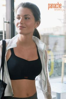 Panache Black Underwired Sports Bra