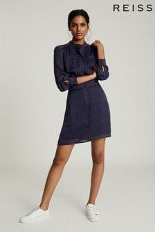 فستان قميص أزرق بحزامSophia منReiss