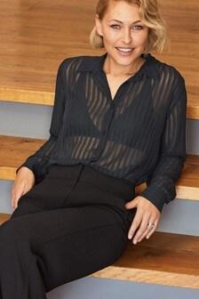 Прозрачная рубашка в полоску Emma Willis