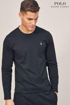 Bluză Polo Ralph Lauren cu guler rotund și mânecă lungă