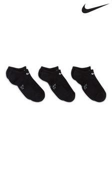 Nike Kids Performance Cushioned Invisible Training Sock Three Pack