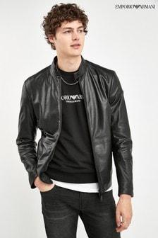Emporio Armani皮衣外套