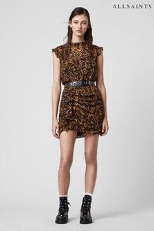 AllSaints Leopard Print Hali Mini Dress