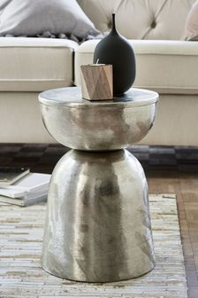 Loxley Drum Side Table / Bedside