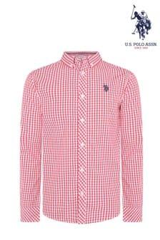U.S. Polo Assn. Gingham Poplin Shirt