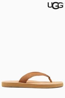 UGG® Chestnut Tawney Leather Toe Thong