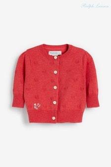 Розовый кардиган с сердечками Ralph Lauren