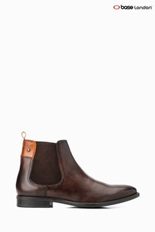 Base London® Brown Dolcetta Pull-On Chelsea Boots
