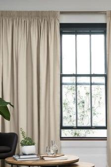 純棉筆抓遮光/保暖窗簾