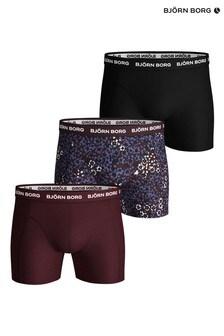 Bjorn Borg Red Sammy BB Ditsy Flower Shorts