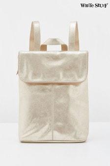 White Stuff Metallic Fern Leather Backpack