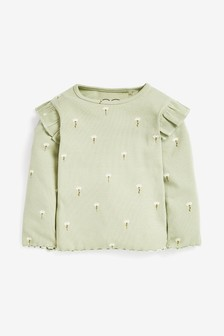 Long Sleeve Rib T-Shirt (3mths-8yrs)