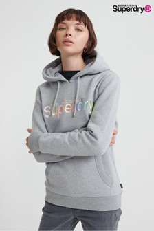 Superdry Grey Rainbow Hoody
