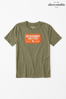 Abercrombie & Fitch グリーン半袖 Tシャツ