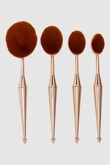 Set of 4 Oval Make Up Brushes