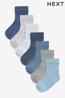 7 Pack Rib Socks (Younger)