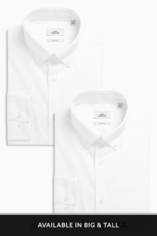 Button Down Collar Shirts Two Pack