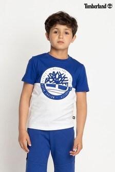 Timberland® Blue/White T-Shirt