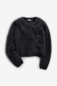 Puszysty sweter rozpinany (3-16 lat)