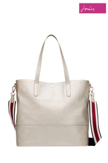 Joules Silver Trent Shopper PU Shopper
